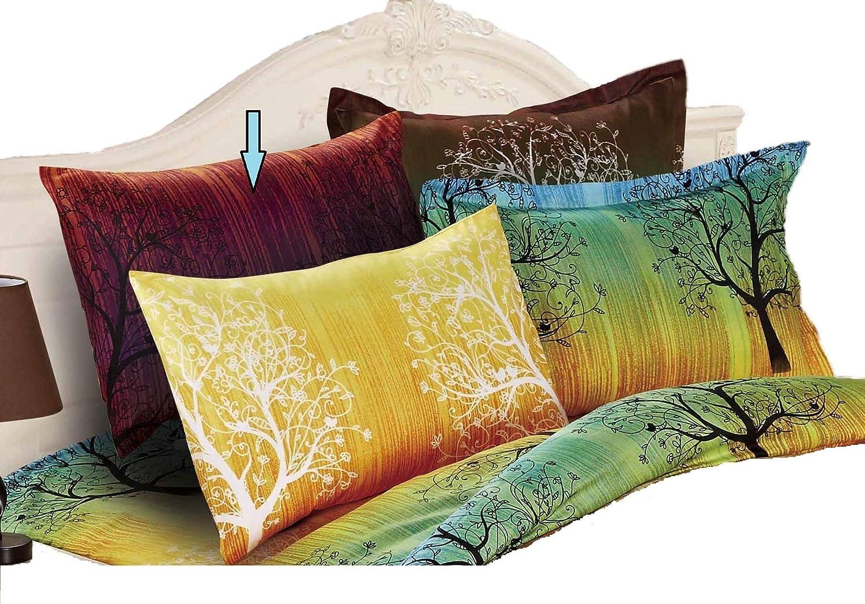 Swanson Beddings A Pair of Rainbow Tree Pillow Shams Purple Queen