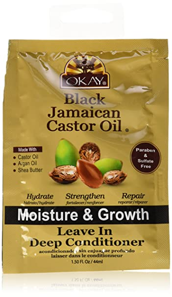 Okay Black Jamaican Castor Oil Leave-in Deep Conditioner, 1.5 Ounce