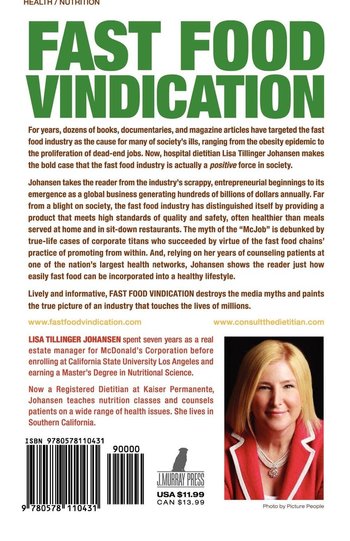 fast food vindication lisa tillinger johansen  fast food vindication lisa tillinger johansen 9780578110431 com books