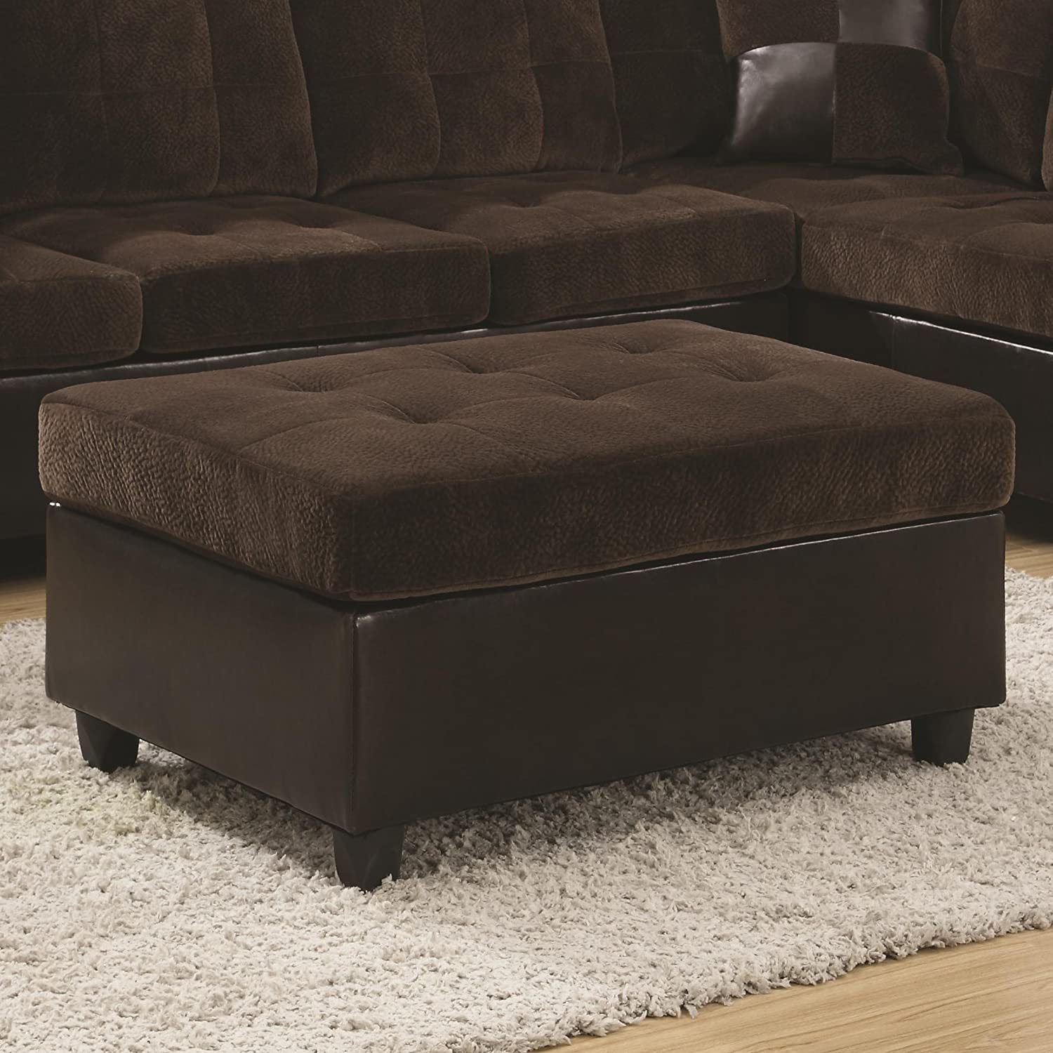 Coaster Home Furnishings 505646 Casual Ottoman, Brown
