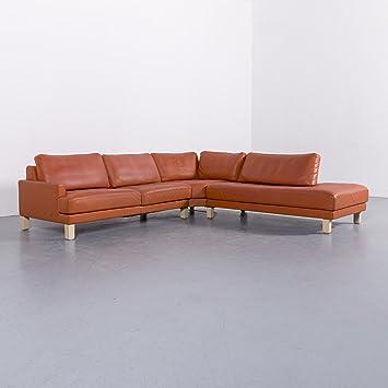 Amazonde Rolf Benz Leder Ecksofa Orange Viersitzer Couch Echtleder