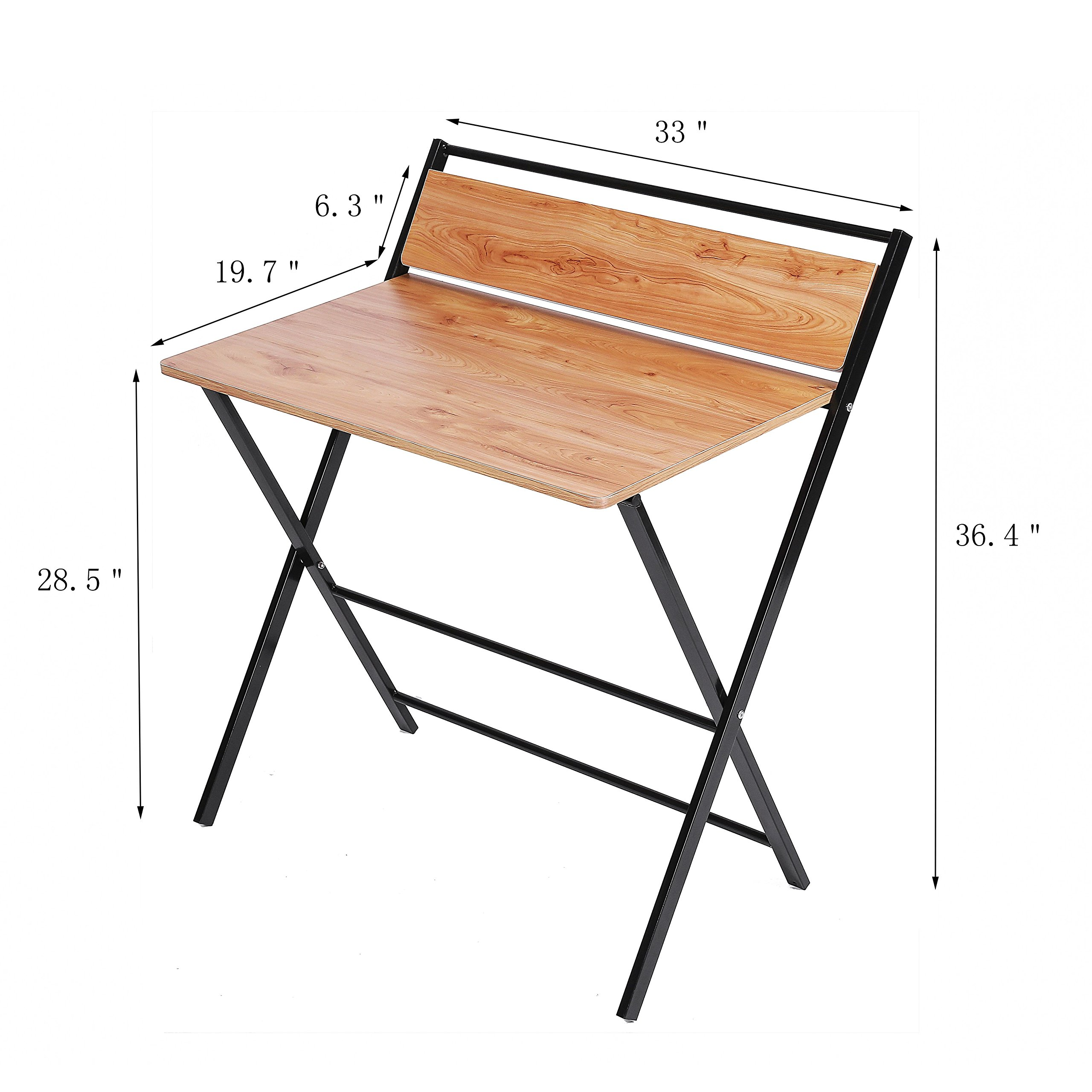 JIWU 2-Style Folding Desk For Small Space, Home Corner