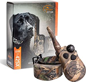 SportDOG Brand 425X Remote Trainers - 500 Yard Range E-Collar with Static, Vibrate and Tone - Waterproof, Rechargeable