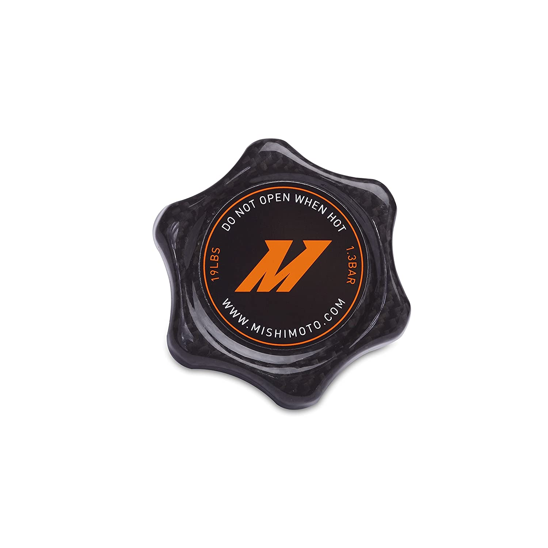 Mishimoto MMRC-13-SMCF Carbon Fiber Radiator (1.3 Bar Cap, Small), 1 Pack