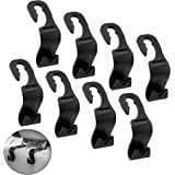 IPOW 8 Pack Strong Car Back Seat Headrest Hanger,Easy Installation SUV Storage Easy Hooks for Bag Purse Cloth Grocery