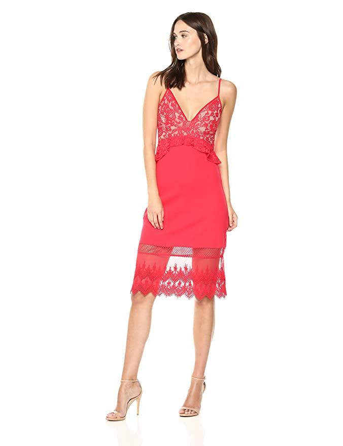 French Connection Womens Delos Lucky Layer Lace and Sheer Dress Casual: Amazon.co.uk: Clothing