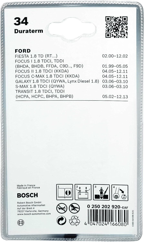 Bosch Automotive 0 250 202 124 Buj/ías de Incandescencia