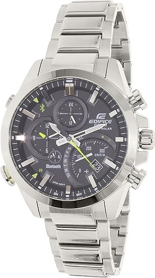 bede5138c54b Casio Edifice Reloj de cuarzo para hombre con correa de acero inoxidable