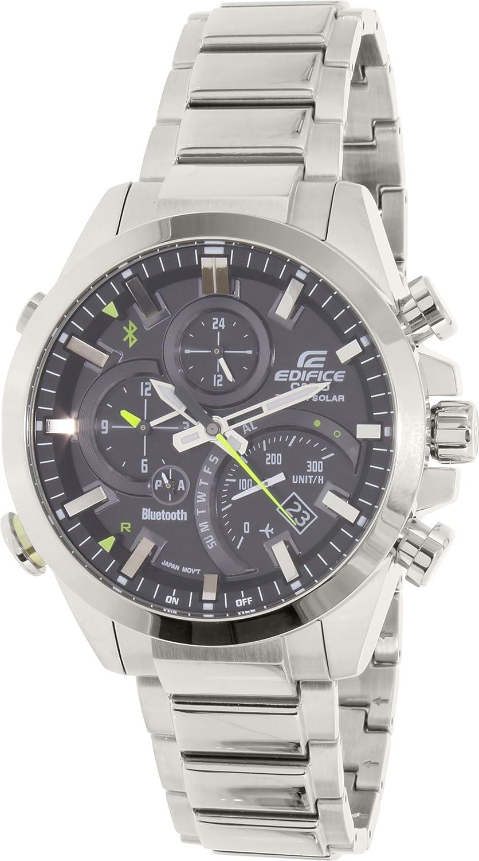 Amazon Com Casio Men S Edifice Quartz Watch With Stainless Steel