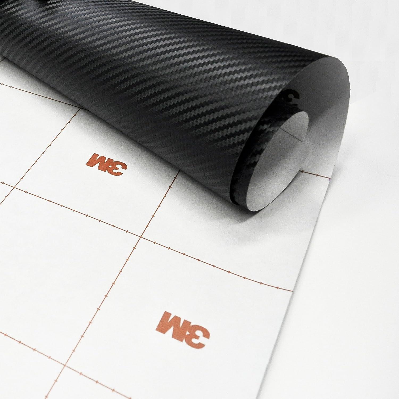 3M ダイノック リアル カーボンフィルム シール ステッカー CA-421 つや消し ブラック/黒 (122cm x 300cm) カーラップ サイドミラーやボンネットカスタムに最適サイズ B00NR1RXTK