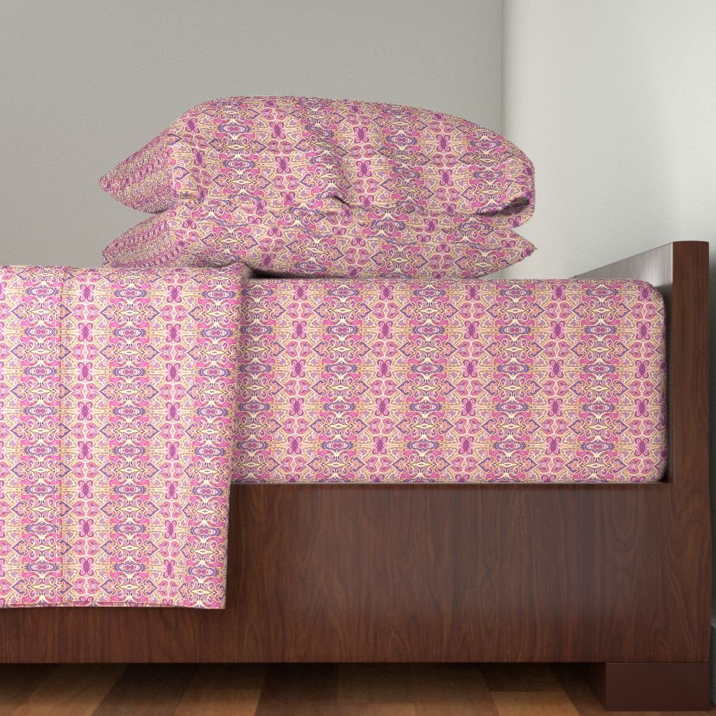 Roostery India 4pc Sheet Set Days In Old Calcutta by Edsel2084 King Sheet Set made with