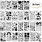 Bullet Journal Stencils Plastic Planner Stencils Journal/Notebook/Diary/Scrapbook DIY Drawing Template 4x7 Inch, 26 Pieces