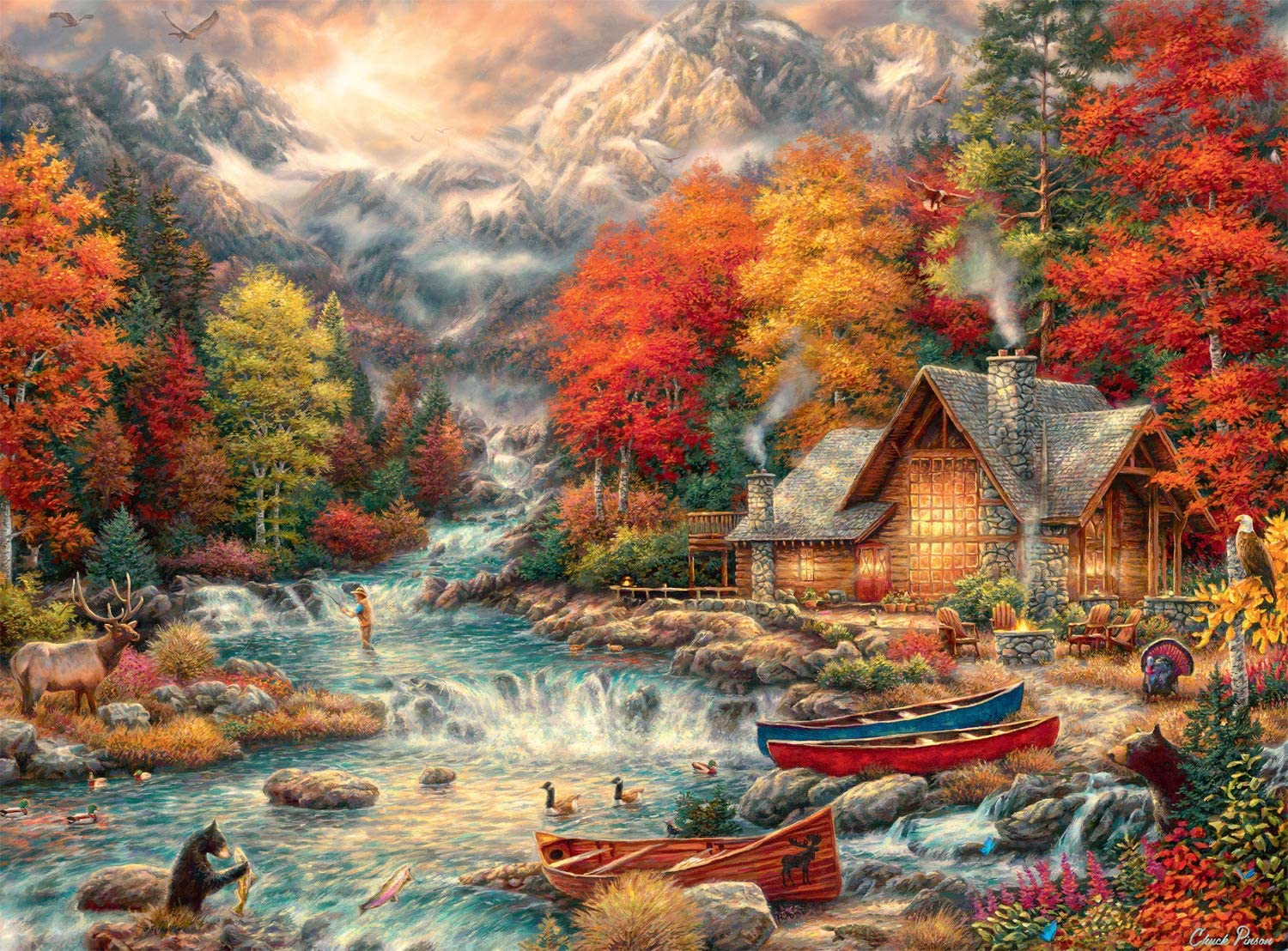 Buffalo Games - Treasures of The Great Outdoors - 1000 Piece Jigsaw Puzzle with Hidden Images
