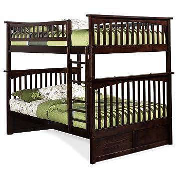 Amazon Com Atlantic Furniture Columbia Bunk Bed Full Over Full In