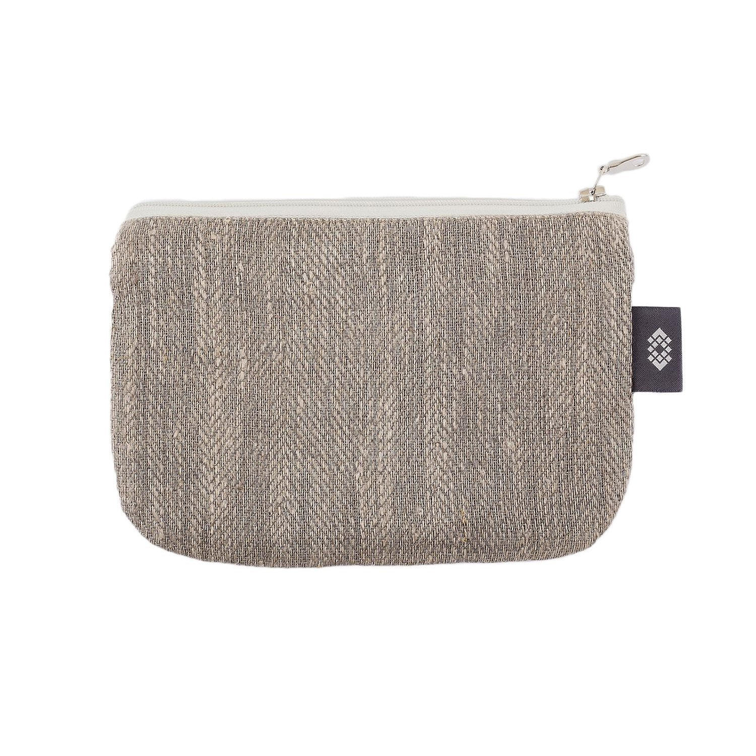 Gray 100% Linen Pencil Case - 5x7 inch Pouch Bag, by ThingStore