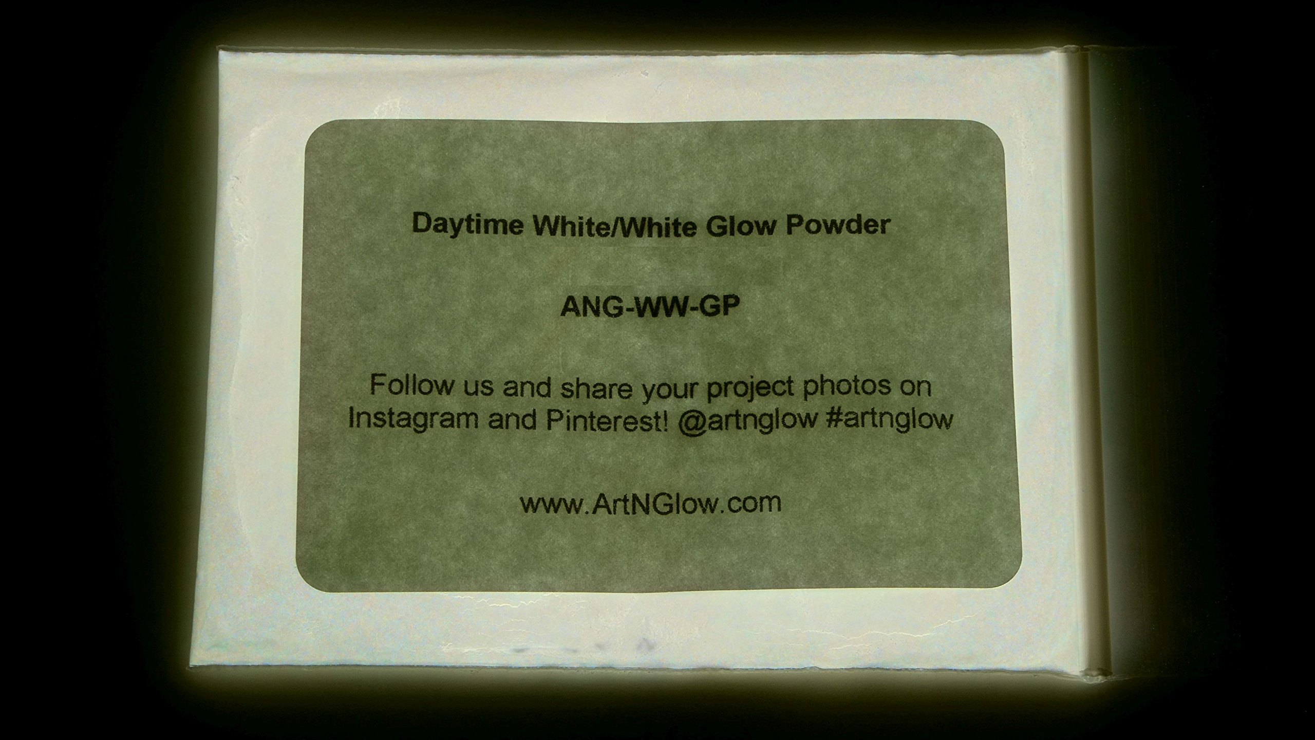 Glow in The Dark Pigment Powder - 12g - Neutral and Fluorescent Colors (Neutral White)