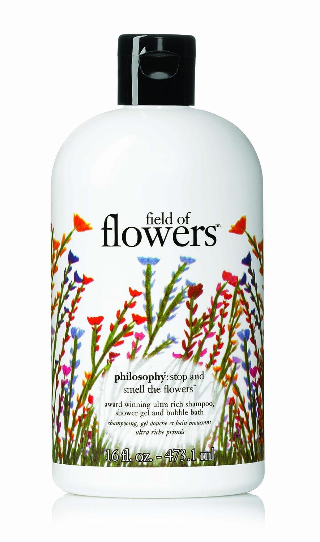 Amazon Philosophy Field Of Flowers Shampoo Shower Gel Bubble Bath 16 Ounces And Gels Beauty