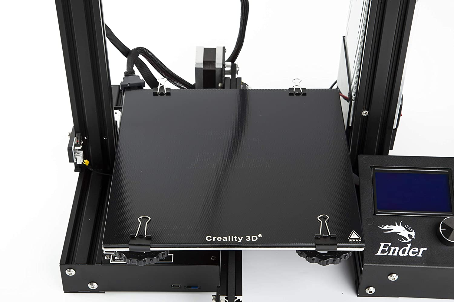 CHPOWER Creality Ender 3 Glass Bed, 3D Printer Glass Platform, Upgraded Hot Heated Bed Build Surface Tempered Glass Plate, 235x235MM ender3 glass bed