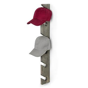 MyGift de madera montado en la pared 6 Gorra de béisbol Display Rack: Amazon.es: Hogar