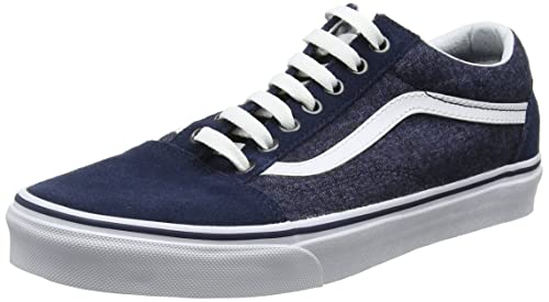 Vans Old Skool, Scarpe Running Uomo, Blu (Suede/Suiting), 39