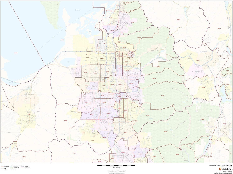 Zip Code Map Utah Amazon.: Salt Lake County, Utah Zip Codes   48