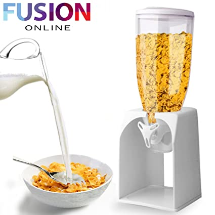 Dispensador de cereales Pasta recipiente de almacenamiento de alimentos secos Máquina Dispensadora regalo blanco (Fusion