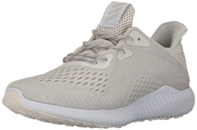 reputable site 98074 e3ec1 adidas Women s Alphabounce em w Running Shoe, Chalk White Pearl Grey, 5.5  Medium