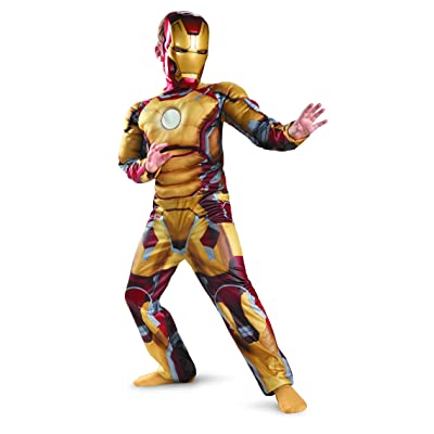 Marvel Iron Man 3 Mark 42 Boys Classic Muscle Costume, 7-8: Toys & Games
