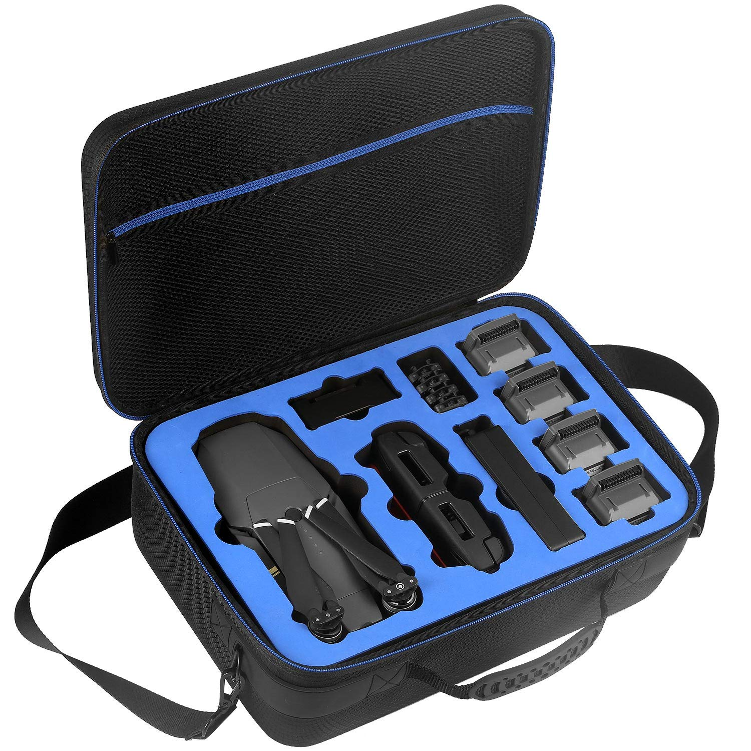 DACCKIT Travel Carrying Case Compatible with DJI Mavic Pro Mavic Pro Platinum Fly More Combo Fit Quadcopter Drone 5x Batteries Remote Controller Charging Hub Propellers and Other Accessories