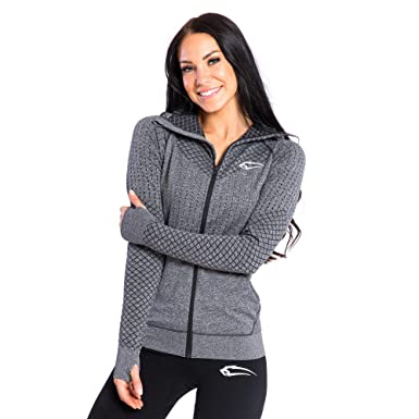 0f373ff90b73f3 SMILODOX Seamless Damen Jacke Protection | Trainingsjacke | Laufjacke für  Sport Training & Freizeit | Running