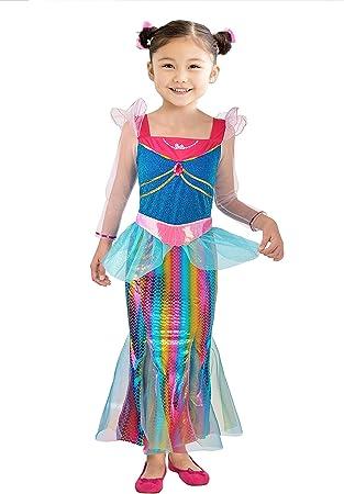 Ciao Barbie sirena Arco iris disfraz de niña, 8 – 10 años ...