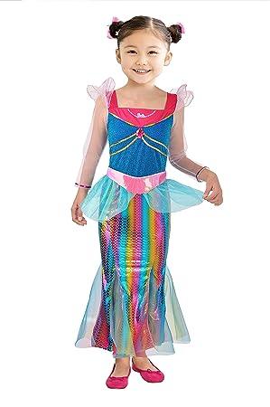 Ciao Barbie sirena Arco iris disfraz de niña 3-4 anni ...