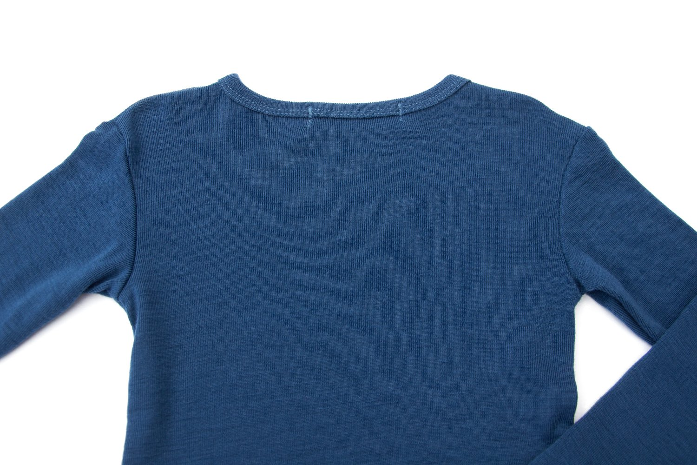 Pure Merino Wool Kids Thermal Top. Base layer Underwear Pajamas. BLUE 9-10 Yrs by Simply Merino (Image #8)