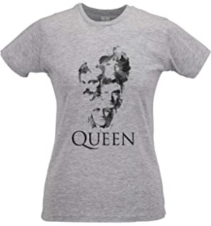 LaMAGLIERIA T-Shirt Femme Queen Forever 100/% Coton Freddie Mercury Rock Band