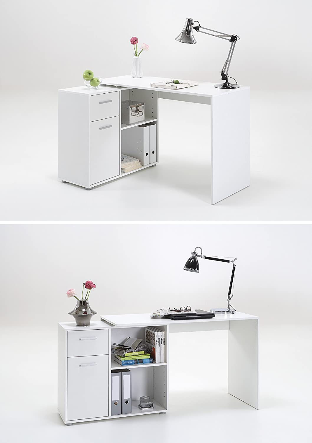 home office computer. lexamidi corner l shape or flat wall home office computer pc desk finished in white 4 different build options amazoncouk kitchen u0026