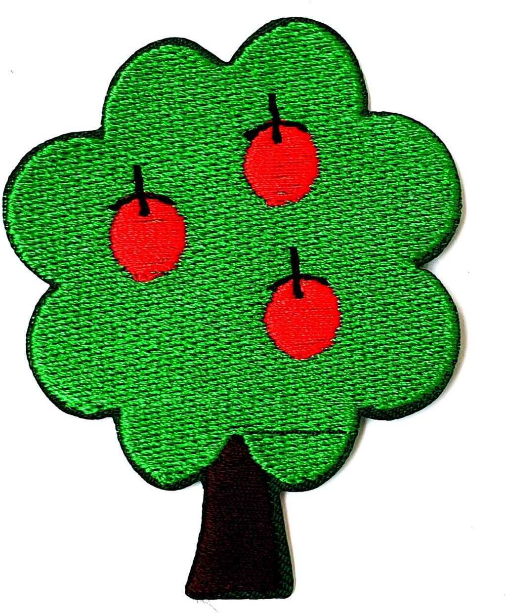 Apple Tree Red Apple Fruit Summer Garden Nature Cartoon Children Kid Patch Clothes Bag T-Shirt Jeans Biker Badge Applique Iron on/Sew On Patch