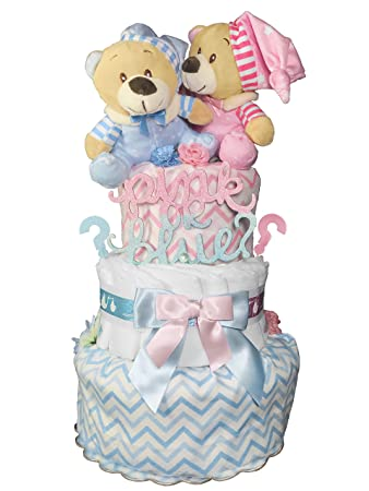 Amazon Gender Reveal Diaper Cake Baby Shower Centerpiece