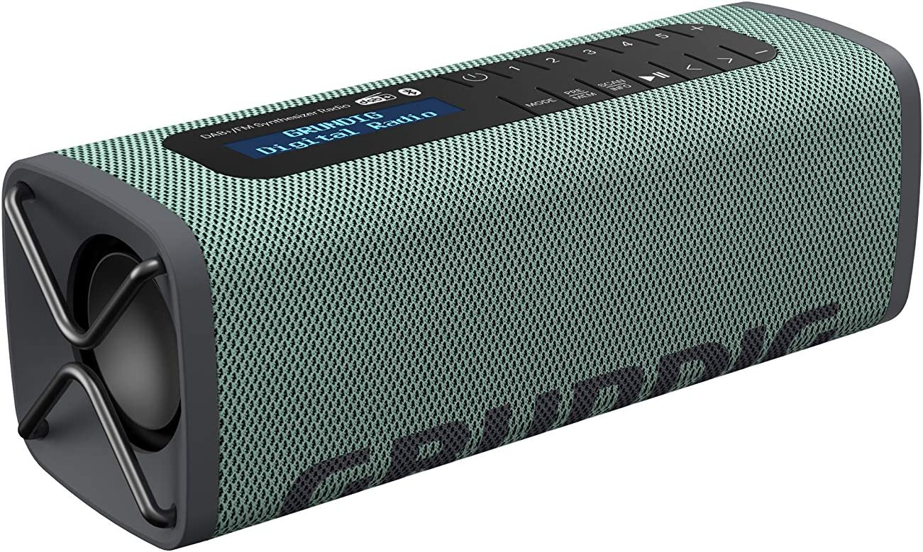 Grundig Gbt Band Army Green Bluetooth Speaker With Dab And Fm Radio 30 M Range More Than 8 Hours Playtime Mp3 Hifi