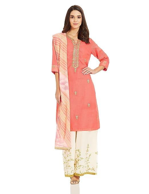 BIBA Women's Straight Salwar Suit Women's Salwar Suits at amazon