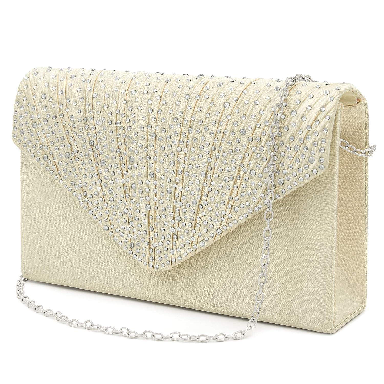 HEKATE Women Evening Bag Rhinestone Envelope