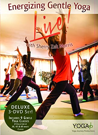 Amazon.com: Gentle Yoga Energizing 3-DVD Set – LIVE! Deluxe ...