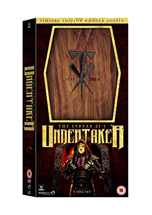 wwe undertaker the streak 21 1 limited edition wooden coffin boxset