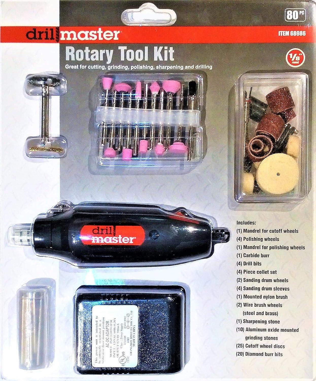 Drill Master Rotary Tool Kit - 80 Pc