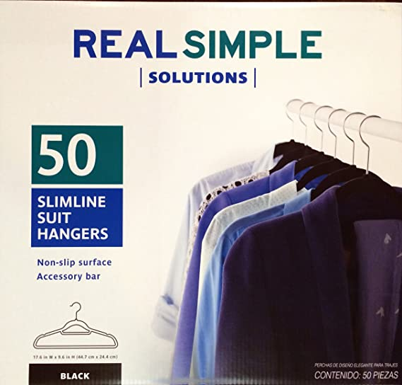 Real Simple Slimline 12-Count Flocked Shirt Hangers in Dove