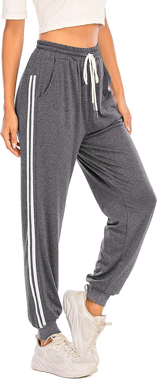 Enjoyoself Donna Pantaloni Lunghi Sportivi Casual Pantaloni per Yoga Correre Jogging Palestra Esercizio di Ballo