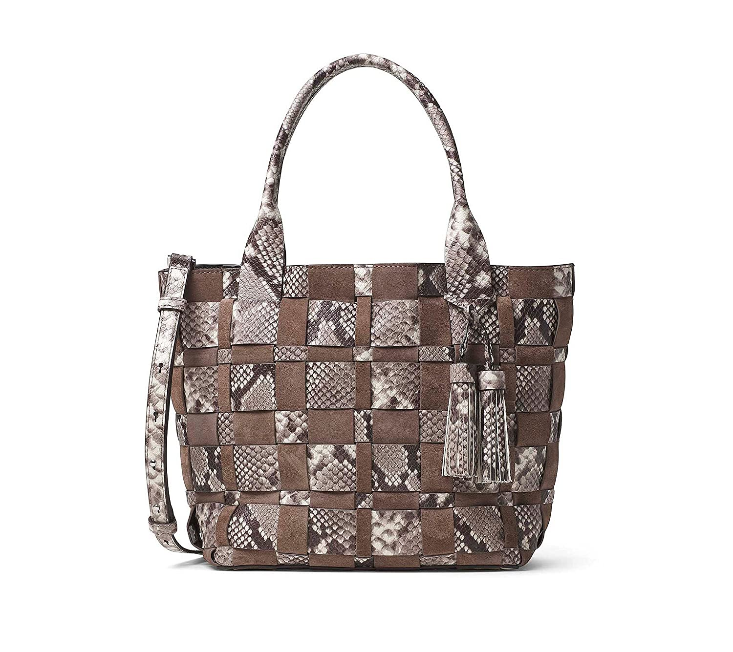 e1f33a5dd3eef5 Amazon.com: MICHAEL Michael Kors Vivian Medium Tote, Color Dark Dune:  Clothing
