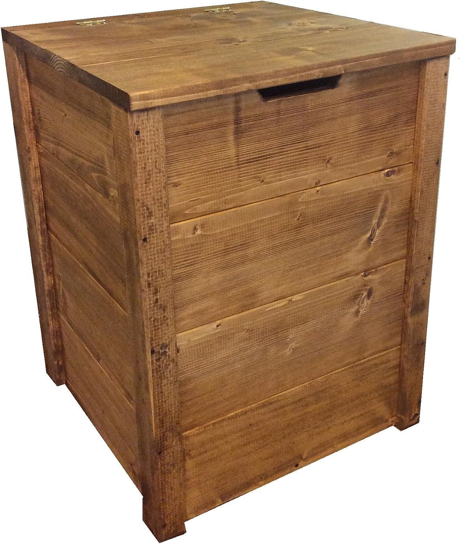 TOTAL WOOD 2012 Coffre Banc de Rangement en Bois enterieur Exterieur Jardin 70x40x40 cm /également Disponible sur Mesure!