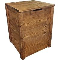 Coffre banc de ragement en bois enterieur exterieur jardin 45x45x60 cm également disponible sur mesure!
