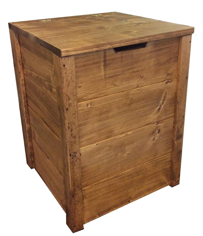 CASSAPANCA IN LEGNO 45x45x60H CM noce scuro ANCHE SU MISURA total wood 2012