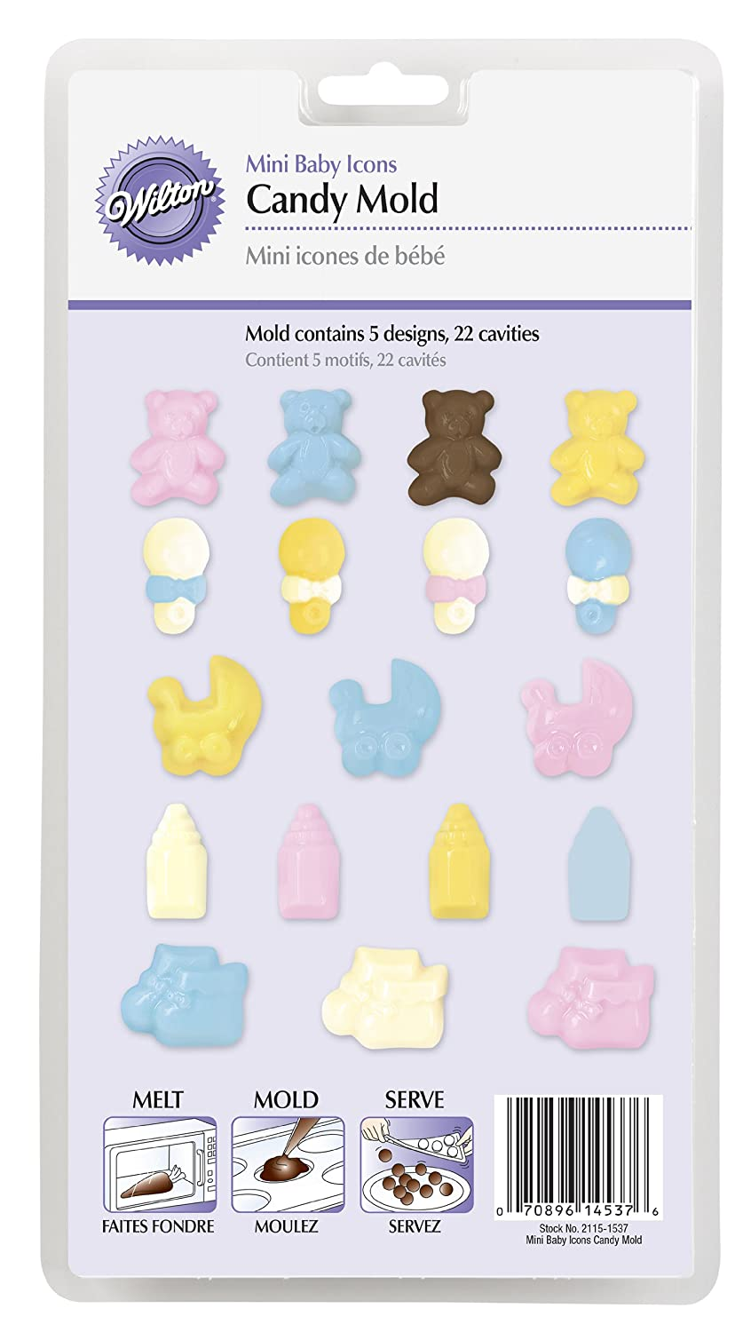 Amazon.com: Wilton 2115-1537 Candy Molds, Mini Baby: Candy Making Molds: Kitchen & Dining